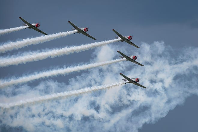 The Geico Skytypers will not fly over the Atlantic City Boardwalk this year as the Atlantic City Air Show has been canceled because of public health risks associated with COVID-19.