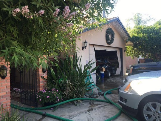 Visalia firefighters responded to a garage fire at 1819 S. Julieann Ct. on Thursday, June 25, 2020.