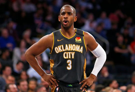 Oklahoma City Thunder guard Chris Paul is the current president of the National Basketball Players Association.