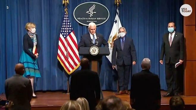 Vice President Mike Pence heads the White House Coronavirus Task Force.