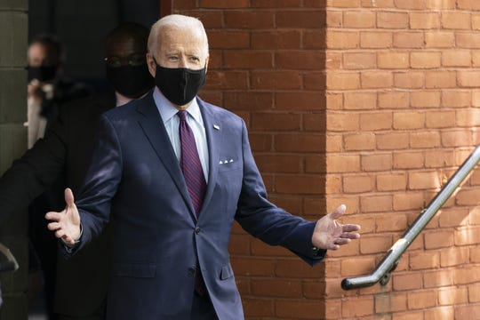 Democratic presidential candidate, former Vice President Joe Biden, arrives to speak at an affordable health care event at the Lancaster Recreation Center on June 25, 2020 in Lancaster, Pennsylvania.