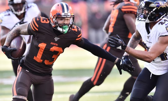 Odell Beckham had 1,035 yards and 4 TDs receiving for the Browns last season.
