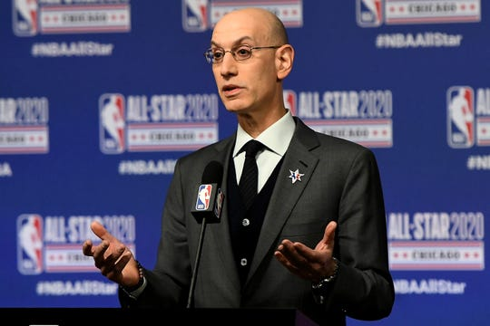 """NBA commissioner Adam Silver says, """"We can't sit on the sidelines indefinitely."""""""