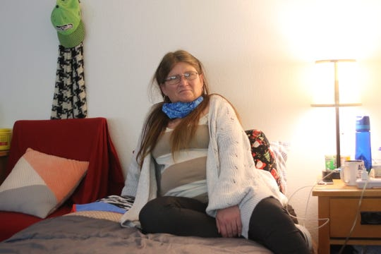 Tracie Hall, 48, moved to Eagles Wings new shared home. in Silverdale. She had previously been homeless for 33 years.