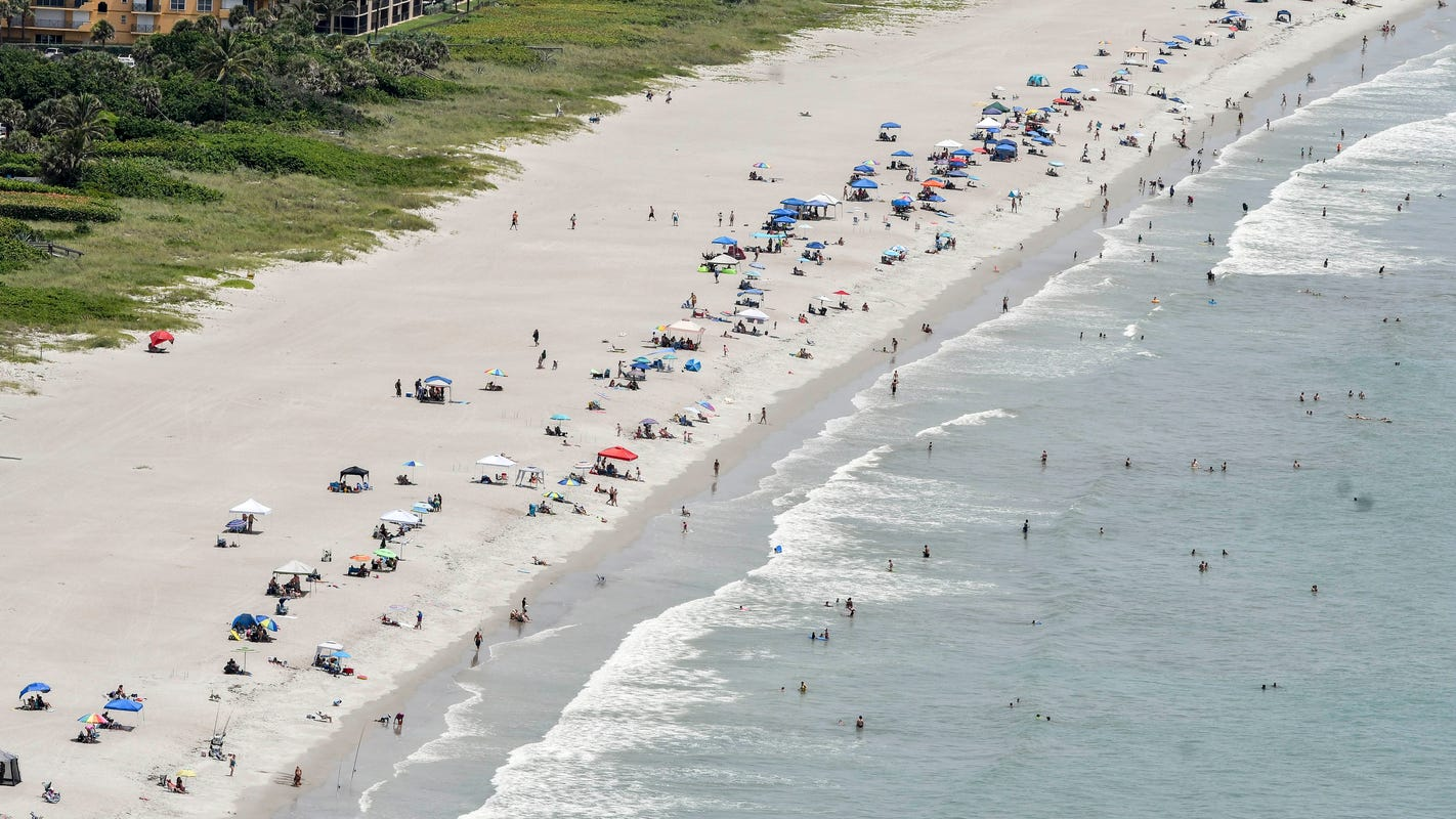 Fewer People Flocking To Florida Beaches As Covid 19 Cases Surge