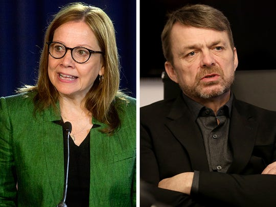 General Motors CEO Mary Barra, left, and Fiat Chrysler Automobiles CEO Mike Manley