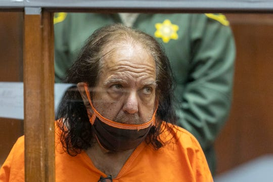 Adult film star Ron Jeremy appears for his arraignment on rape and sexual assault charges at Clara Shortridge Foltz Criminal Justice Center, Friday, June 26, 2020, in Los Angeles.