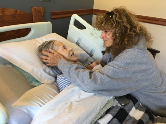 The daughters were allowed in one at a time to see their mother, Jean O'Brien, after she was moved into hospice.