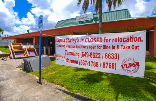 A banner outside the former Shirley's Coffee Shop in the Agana Shopping Center informs potential diners of the restaurant's decision to relocate in this June 27 photo.
