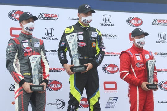 Linus Lundqvist, a Stockholm, Sweden, native, won the first round of the FR Americas race on Saturday during the Vintage Grand Prix of Mid-Ohio.