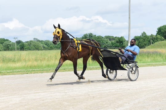 Miss Yambol was happy to go for a jog with Desmond Ringo at the Richland County Fairgrounds on Saturday.