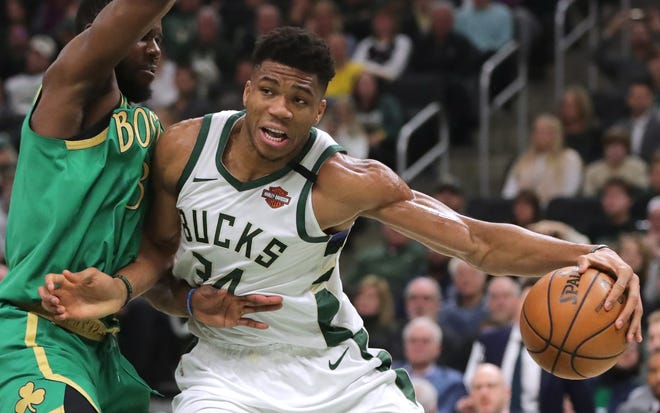 Giannnis Antetokounmpo and the Milwaukee Bucks will resume their regular season when they take on the Boston Celtics on July 31 on the campus of the ESPN Wide World of Sports Complex near Orlando, Florida.