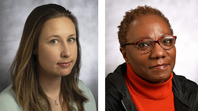 Milwaukee Journal Sentinel reporter Ashley Luthern, left, and photojournalist Angela Peterson, right