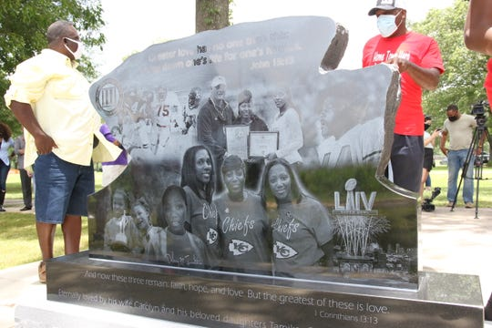 A new monument dedicated Saturday at Chennault Park will help ensure Joe Delaney's life and sacrifice are never forgotten. On June 29, 1983, Delaney jumped into a pond in an attempt to save drowning children. Delaney, a rising star for the Kansas City Chiefs, drowned along with two children.