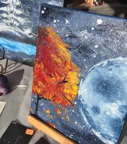 Arianna Ochoa sells her artwork at the Las Cruces Farmers & Crafts Market through the Jr. Vendors Program.