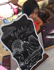 Nycto Art, created by Arianna Ochoa, sells artwork at the Las Cruces Farmers & Crafts Market through the Jr. Vendors Program.