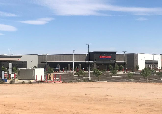 Work continues on the Costco in Surprise on June 26, 2020.