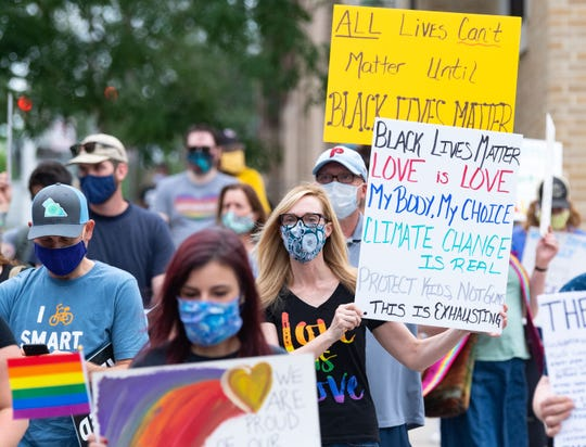 York County residents took to the streets to peacefully march in support of the Black Lives Matter movement and the LGBTQ community on Saturday, June 27, 2020. The rally, hosted by the Rainbow Rose Center, started at Penn Park and continued through town to Cherry Lane.