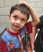 This is a photograph of a boy found wandering in Bridgeton Saturday, June 27 and now back with his family. CREDIT: Bridgeton police.