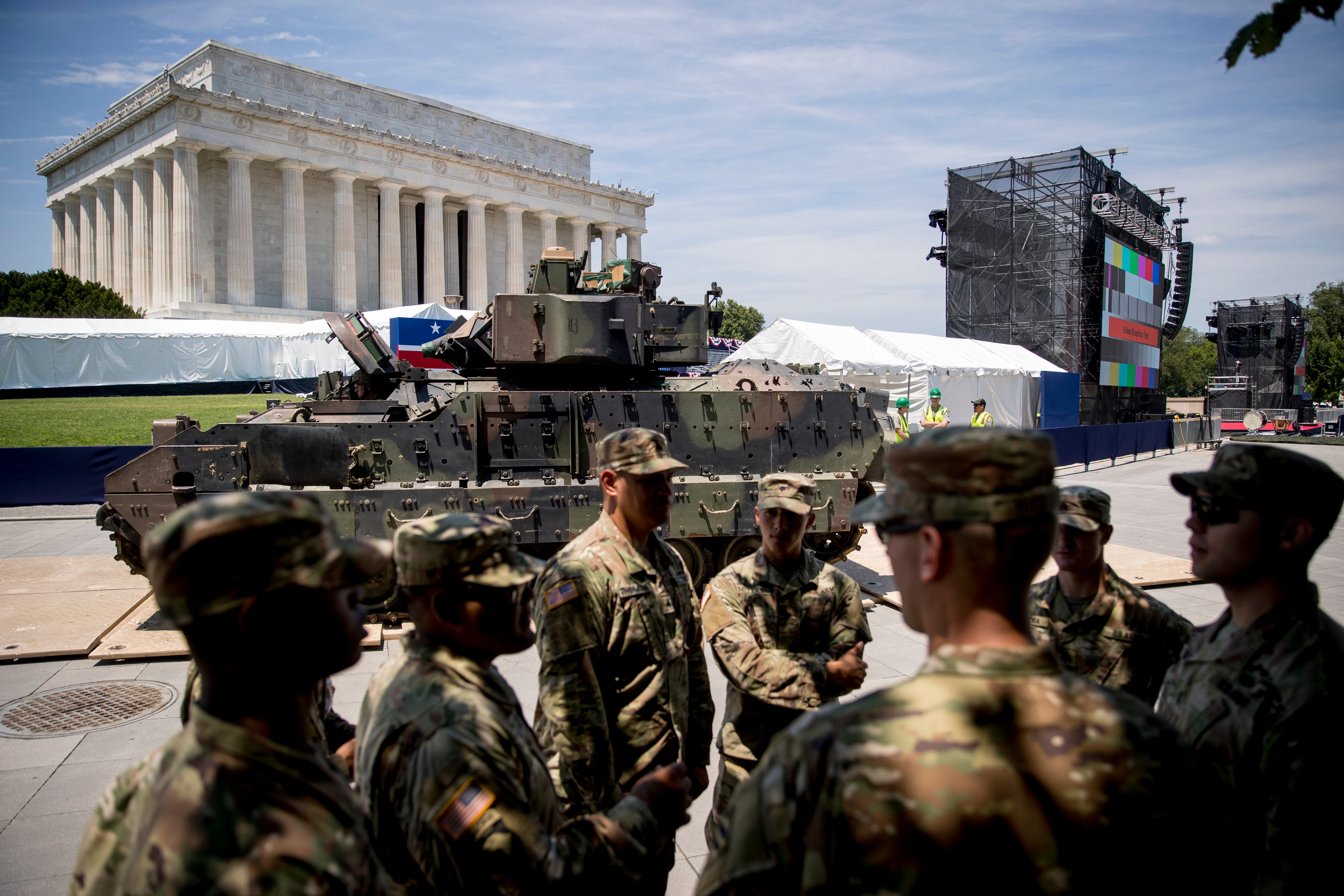 1,700 troops will support Trump s 4th of July celebration plans, Pentagon says