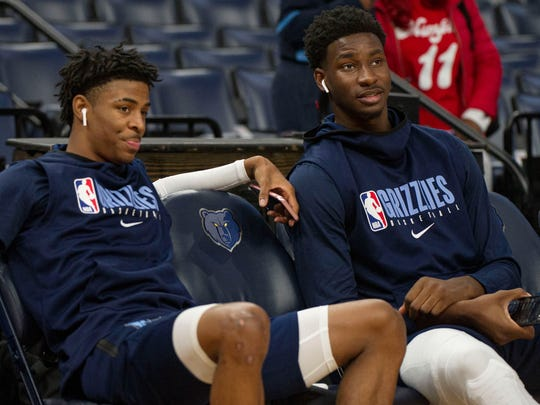 Young cornerstones: Ja Morant, left, and Jaren Jackson Jr.