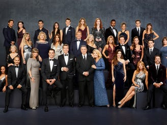 """This image released by CBS shows the cast of the daytime drama series """"The Young and the Restless."""" The long-running daytime drama won the Emmy for outstanding drama series at the 47th annual Daytime Emmy Awards."""