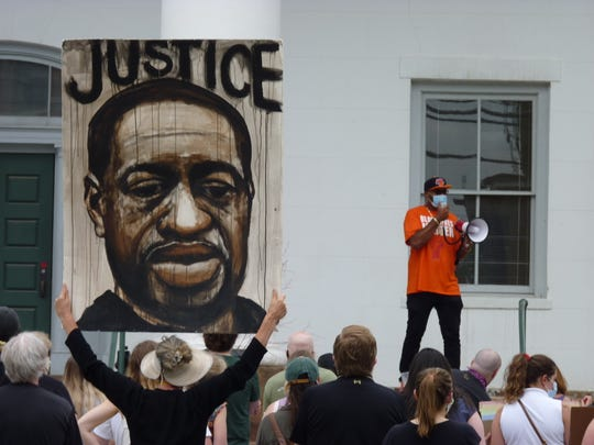 More than 100 people turned out to Flemington on Saturday, June 27 to rally for Black Lives Matter after the death of George Floyd, who died in custody of the Minneapolis Police Department.