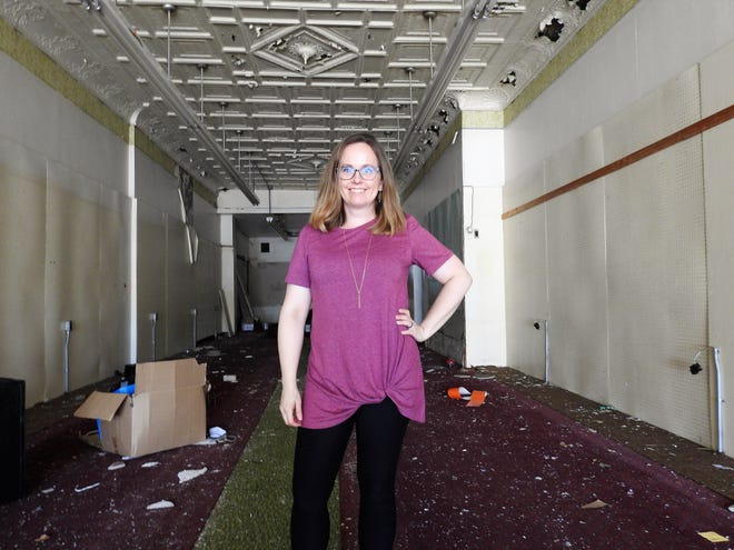 Liz Argyle of Newark and her husband, Tim, are in process of renovating the former Sue's Hallmark building at 422 Main St. By next summer, the structure should be home to five updated apartments and two retail spaces. Liz has worked on similar projects in downtown Newark and is encouraged by what she sees in Coshocton.