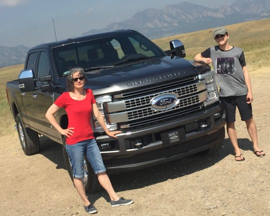 Stacie Brauer with her son Kirk in Broomfield, Colorado on July 28, 2016 for the Ford Super Duty press launch. The Brauer family is dealing with the sudden job loss of the breadwinner.