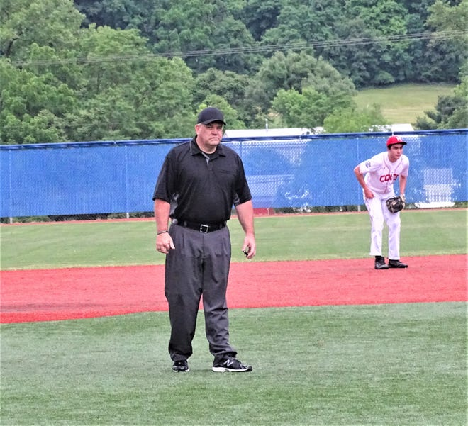 Phil King, shown umpiring an American Legion game at Beavers Field, was selected to umpire in the Senior Little League World Series before it was canceled because of the coronavirus pandemic.