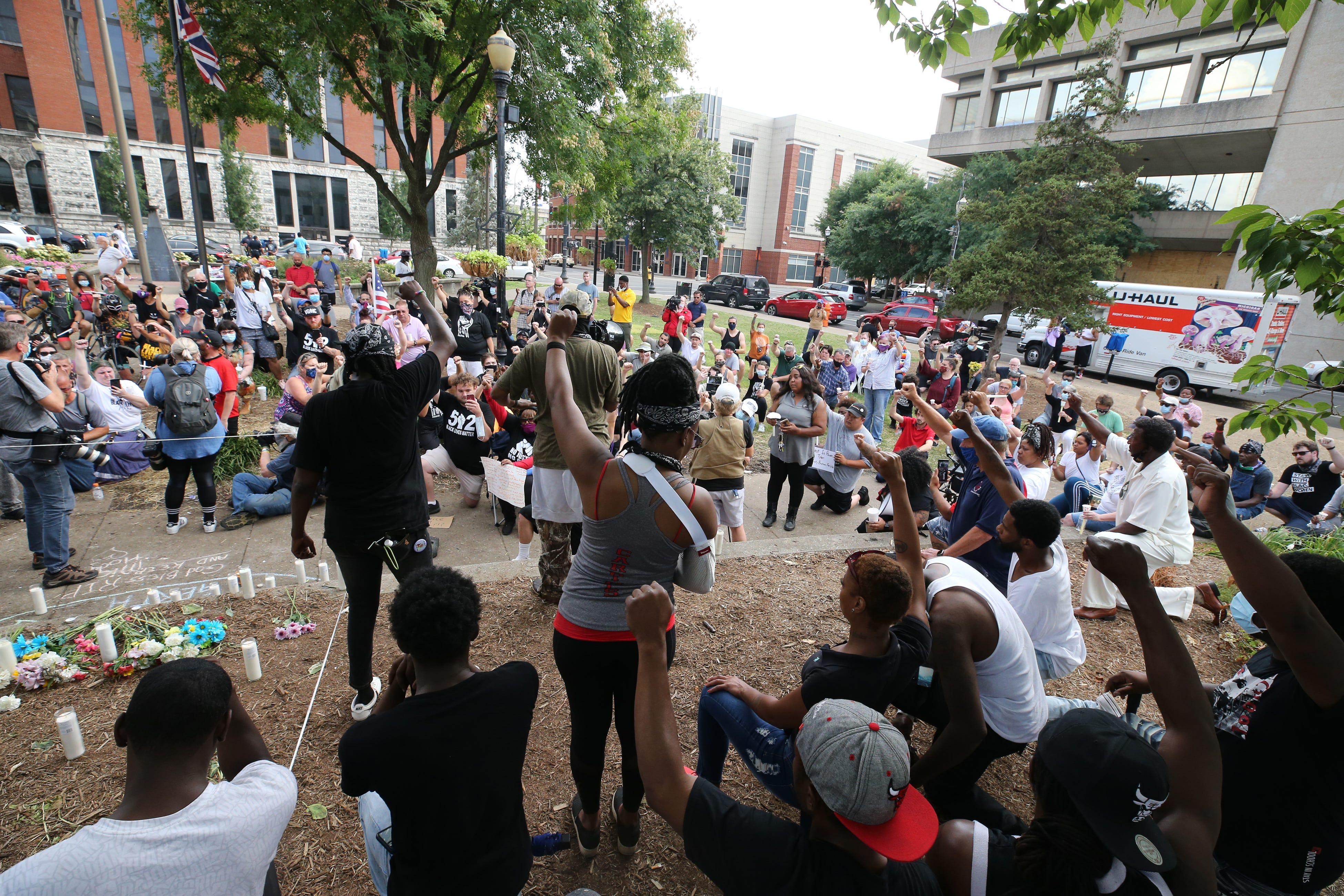 A vigil was held for the late Tyler Gerth, who was shot and killed at Jefferson Square Park, the site of a protest camp.  June 28, 2020