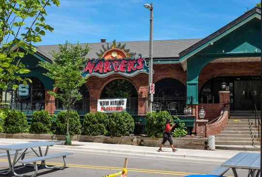 Harper's in East Lansing is closed ensuing from a COVID-19 coronavirus outbreak Sunday, June 28, 2020.
