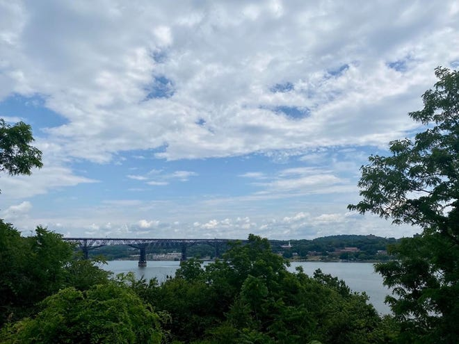A view of the Walkway Over the Hudson and City of Poughkeepsie from Highland as seen on Sunday June 28, 2020.
