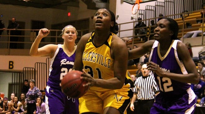 Central York High School graduate Aurielle Mosley, seen here in a file photo with the ball, has been selected to the Millersville University Athletics Hall of Fame.