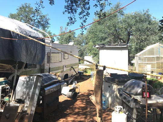 Daun Sanders lived in a trailer off Gail Lane near Shingletown. Sanders is wanted by Shasta County sheriff's officials in connection to a shooting Saturday that left two dead and a third in serious condition at a local hospital.