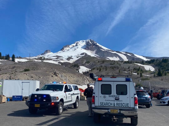 Search and rescue teams rescued a climber on Mount Hood on Saturday.
