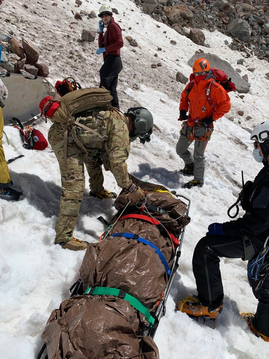 A climber was rescued from Mount Hood on Saturday.