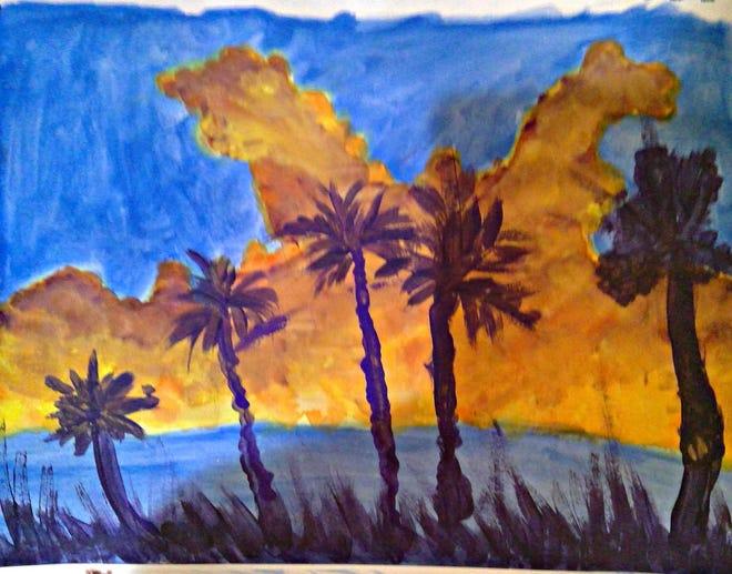 Fourth grader Shivani Kishor's rendition of a Florida Highwaymen project.