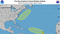The National Hurricane Center is looking at a tropical wave several hundred miles west-southwest of the Cabo Verde Islands.