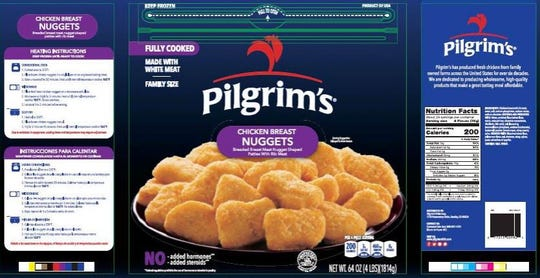 Pilgrim's Pride Corporation is recalling approximately 59,800 pounds of fully cooked chicken breast nugget products.