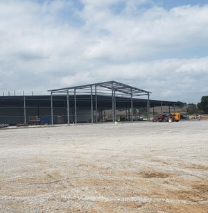 Construction continues at the future location of Atwoods on Veterans Boulevard. Once completed the building will be over 60,000-square feet and sell farm and ranch supplies.