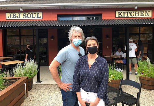 Jon Bon Jovi and wife Dorothea Bongiovi at the Red Bank Soul Kitchen community restaurant.