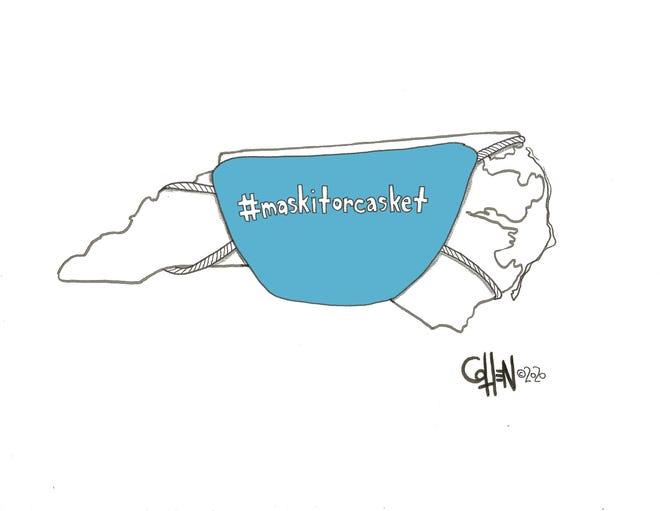 """Mask It"" Cohen editorial cartoon June 25"