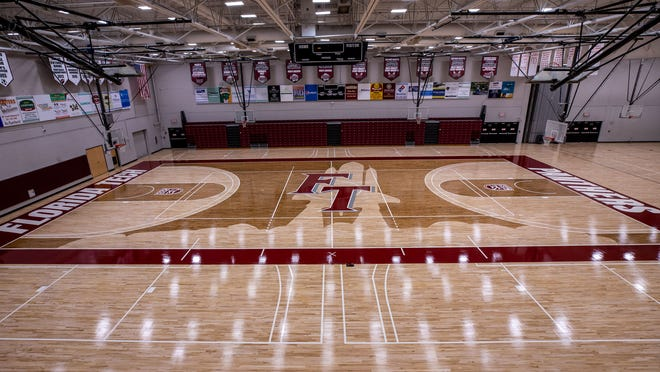 The court at Florida Tech's Clemente Center received a redesign ahead of the 2020-21 season.