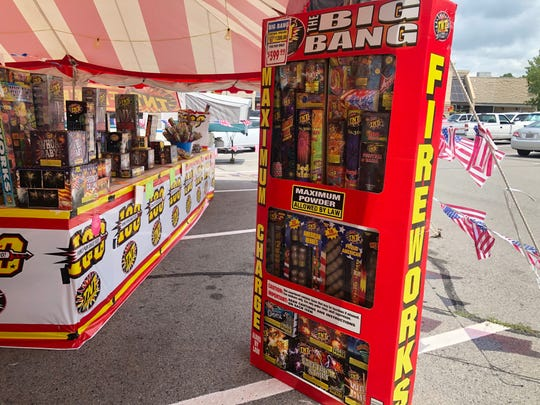 Priced at $600, the Big Bang box of fireworks is the most expensive firework set that TNT Fireworks on Madison Street offers.