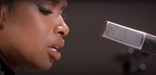 """Jennifer Hudson performs """"To Be Young, Gifted and Black"""" on the BET Awards on CBS, Sunday, June 28, 2020."""