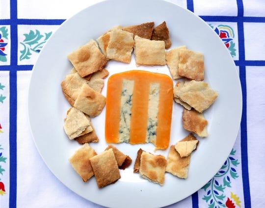 Homemade cream crackers.