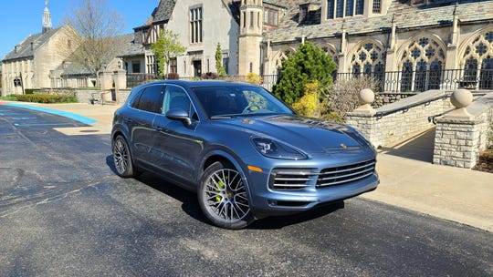 The 2020 Porsche Cayenne E-Hybrid offers a dual personality of green, all-electric driving — and massive AWD, 455-horsepower when the driver has a need for speed.
