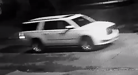 Police are looking for the driver of this white GMC Yukon XL because they believe it was involved in a shooting Saturday that wounded three men on Detroit's east side.