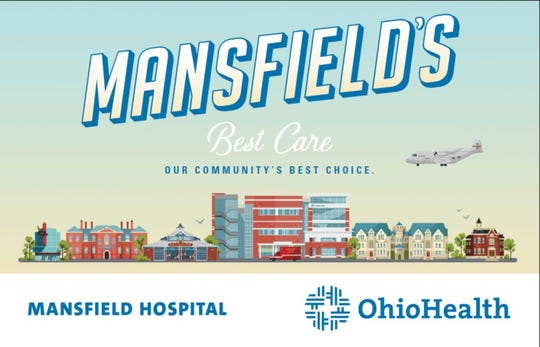 OhioHealth is featuring a new wallscape in downtown Mansfield.